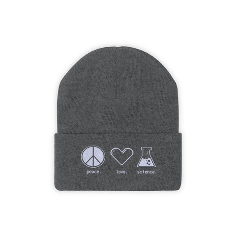 Peace. Love. Science. (Beanie)