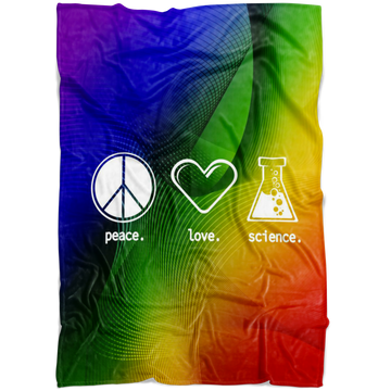 Peace. Love. Science. (Blanket)
