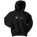 Peace. Love. Science. (Kids Hoodie)