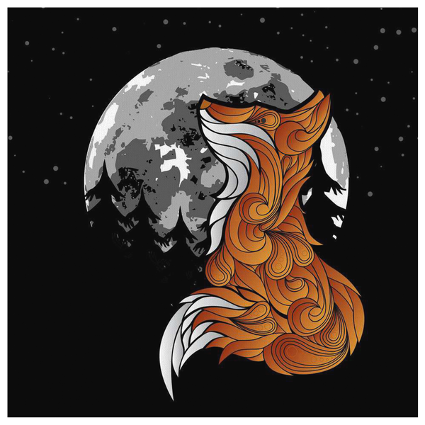 The Fox and the Moon (Wall Art)