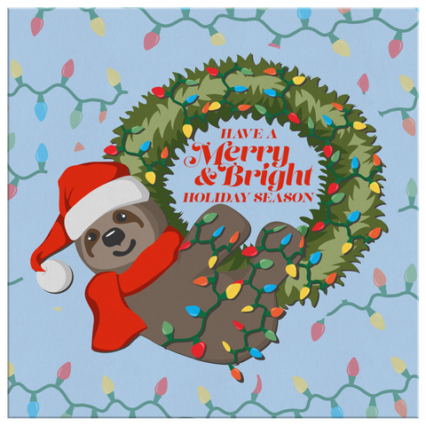 Sloth Christmas (Wall Art)