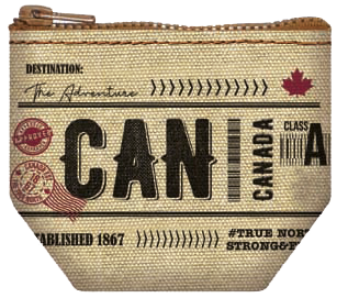 Canadian Vintage Zip Pouch
