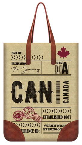 Canadian Vintage Travel Tote Bag