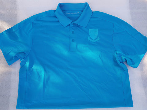 Blue Golf Shirt w/ Barbarian Crest
