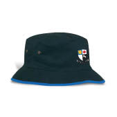 Barbs Bucket Hat-Black with Blue rim