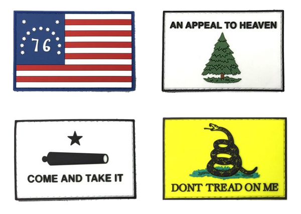 Patriotic Flags - Individual Patches