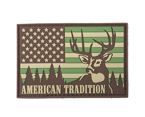 American Tradition - Deer Hunting USA Flag - Patch