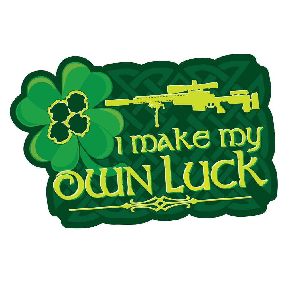 I make my own luck stickers patriot patch company llc