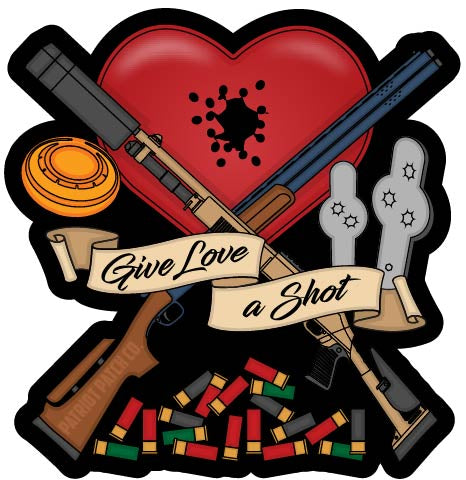 Give Love A Shot Stickers