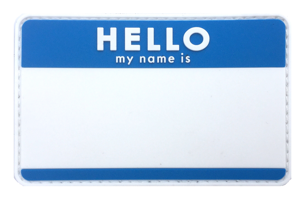Blank HELLO Name Tags - Patches