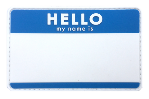 Blank HELLO Name Tags - Morale Patches