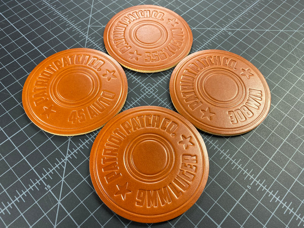 Leather Coasters Set of 4 - Headstamp Series