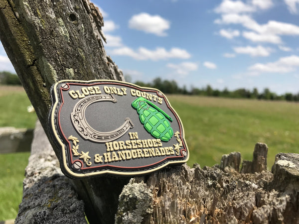 Horseshoes & Hand Grenades - Patch