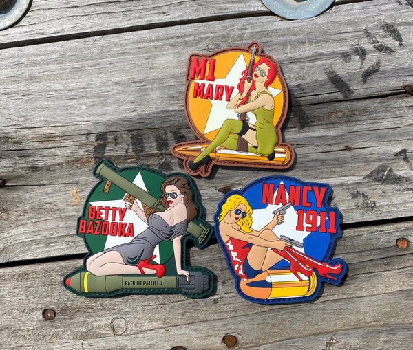 WWII Pinup Girl - Patches