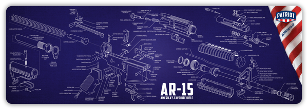 "2 Pack: AR-15 or AK47 Cleaning Mat/Mouse Pads (35"" Wide)"