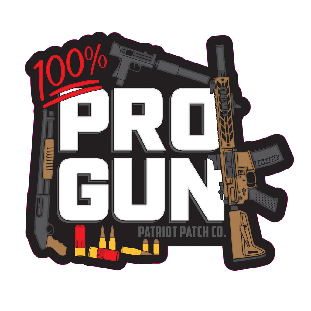 100% ProGun Stickers
