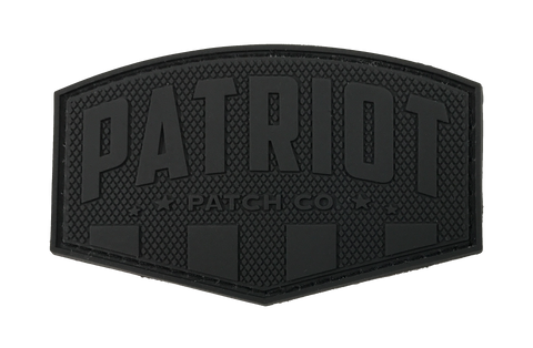 Patriot Patch Co. Logo Patch (Blackout) (Backorder)