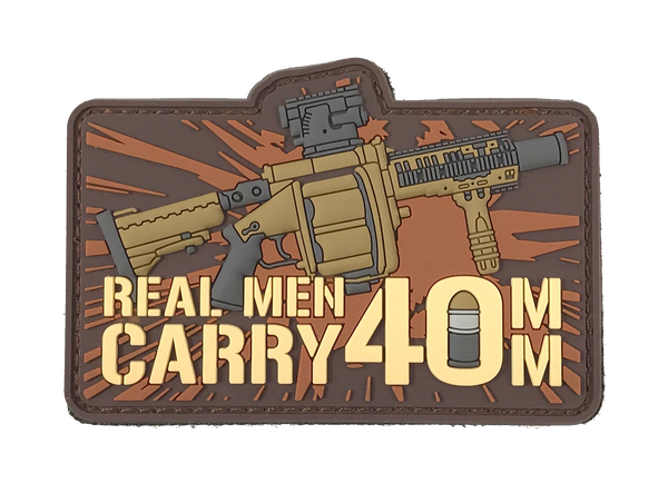 Real Men Carry 40mm - Patch