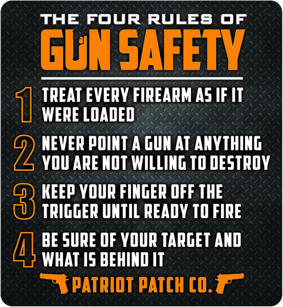 4 Rules Of Gun Safety 5 25 Quot X 5 75 Quot Large Size Single