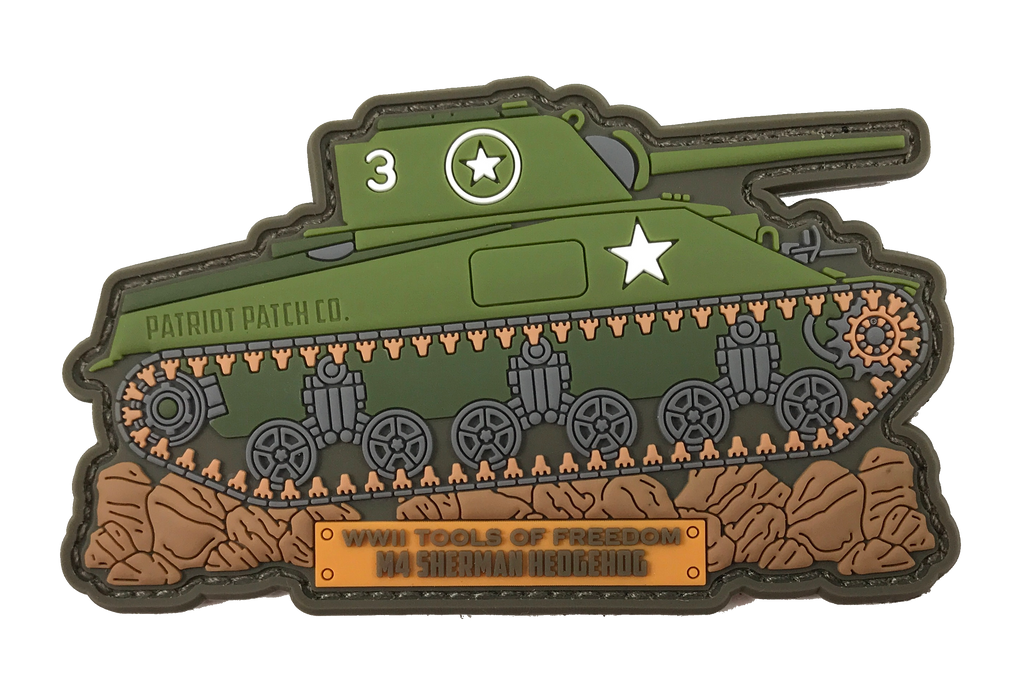 "WWII Armor ""M4 Sherman Tank"" - Patch"