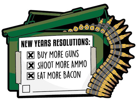 New Years Resolutions - Sticker