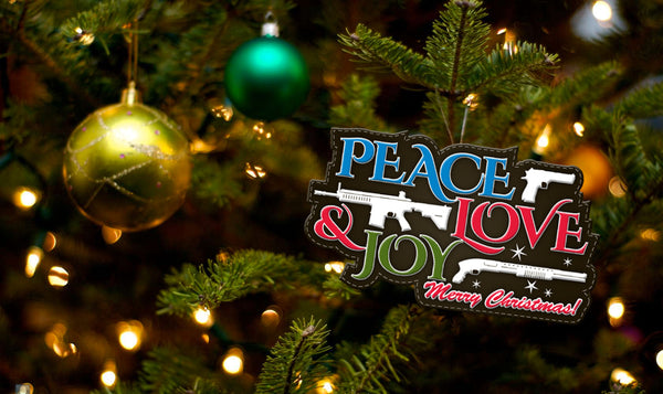 Peace, Joy, & Love Christmas - Patch
