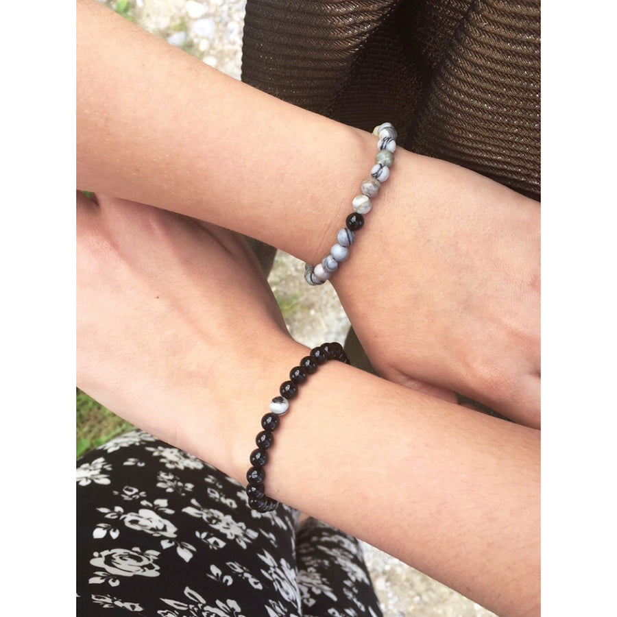 Black & Grey Linking Bracelets