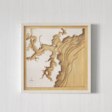 Wooden Map of Pittwater NSW