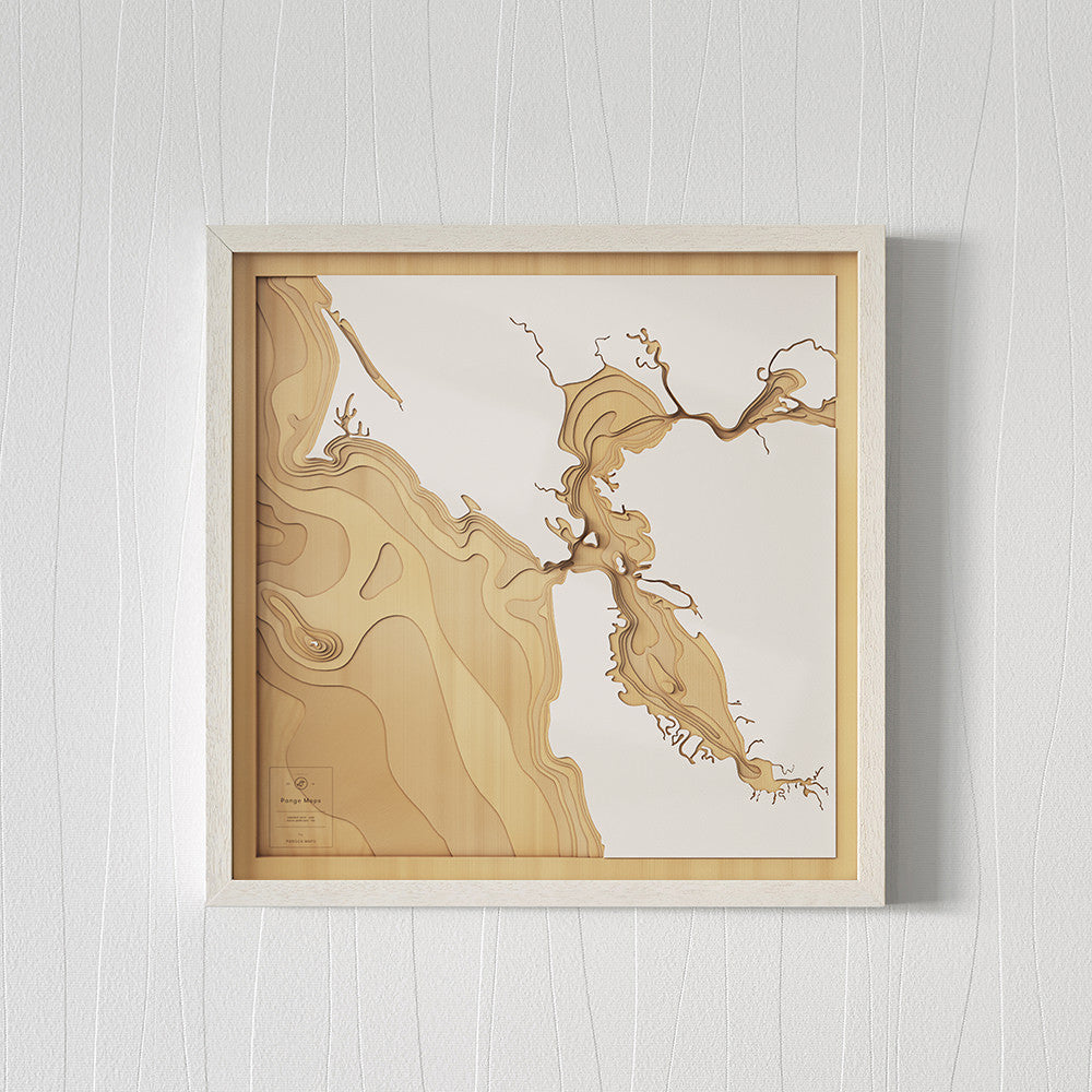 3D Wooden Contour Map of San Francisco