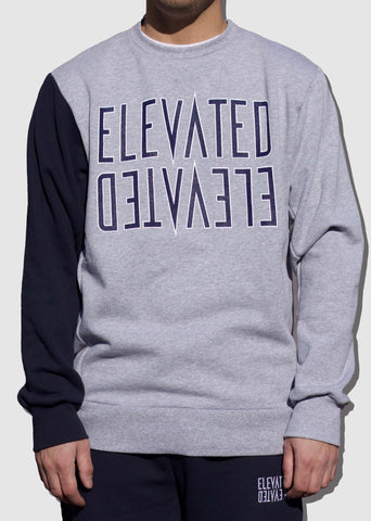 Mirror Crewneck Grey/Navy