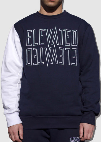 Mirror Crewneck Navy/White