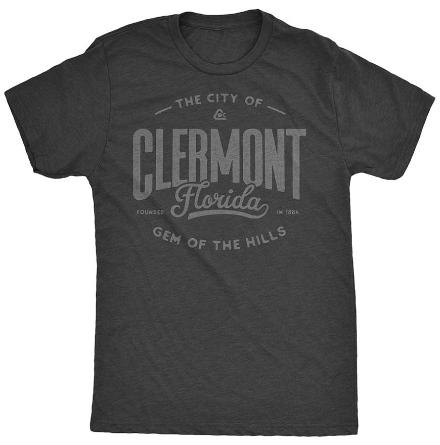 Neighbor Shirts - Clermont - Gem of the Hills - Unisex - Vintage Black