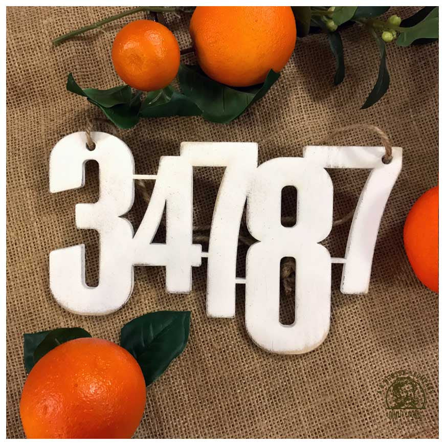 ABN Zip Code Floating Text Sign - A. B. Newton and Company