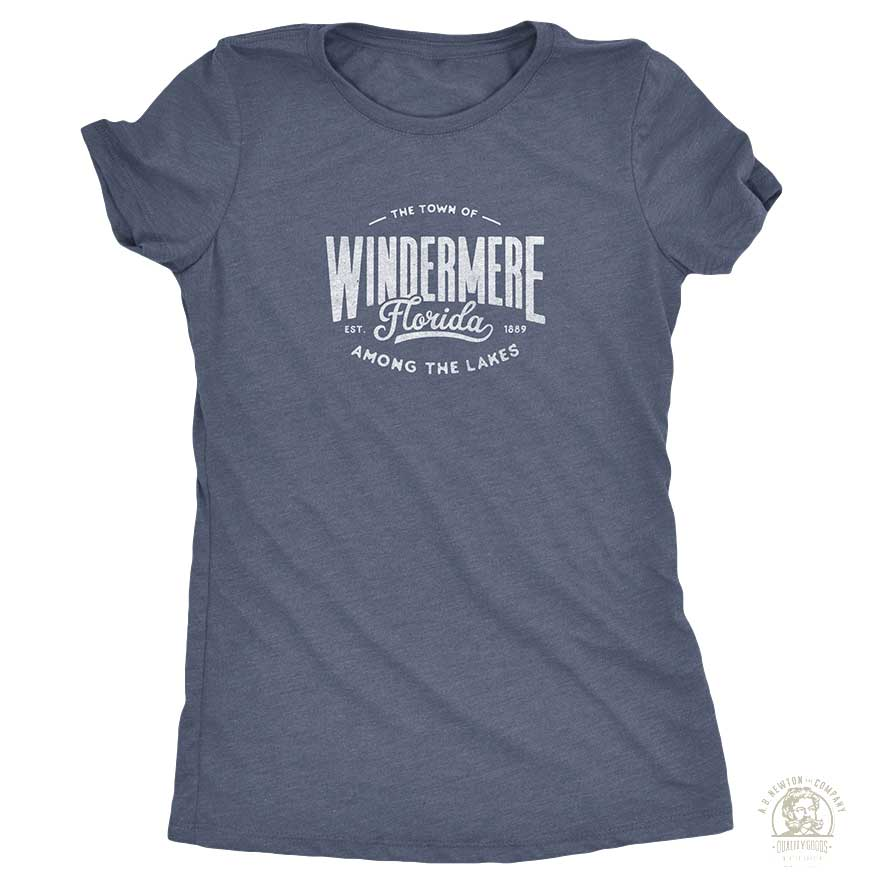 Neighbor Shirts - Windermere - Among The Lakes - Womens - Indigo