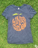 Winter Garden Orange T-Shirt - Vintage Navy - Youth