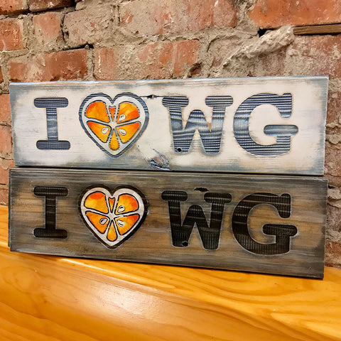 I Love Winter Garden - Hand Painted Wood Sign - A. B. Newton and Company