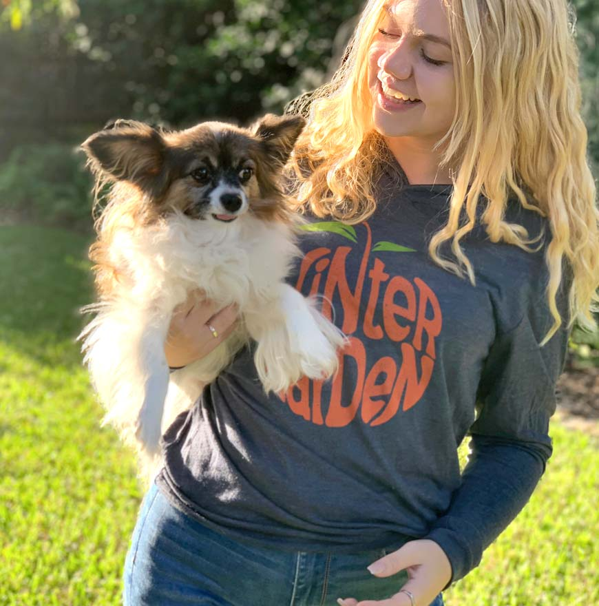 Winter Garden Orange Sweatshirt - Florida Hoodie - Unisex - Indigo