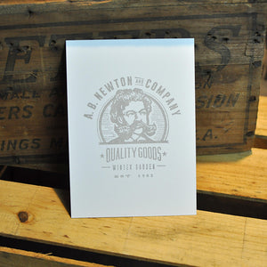 AB Newton Trader Logo Print - 5x7 - Collectible Stationery - A. B. Newton and Company