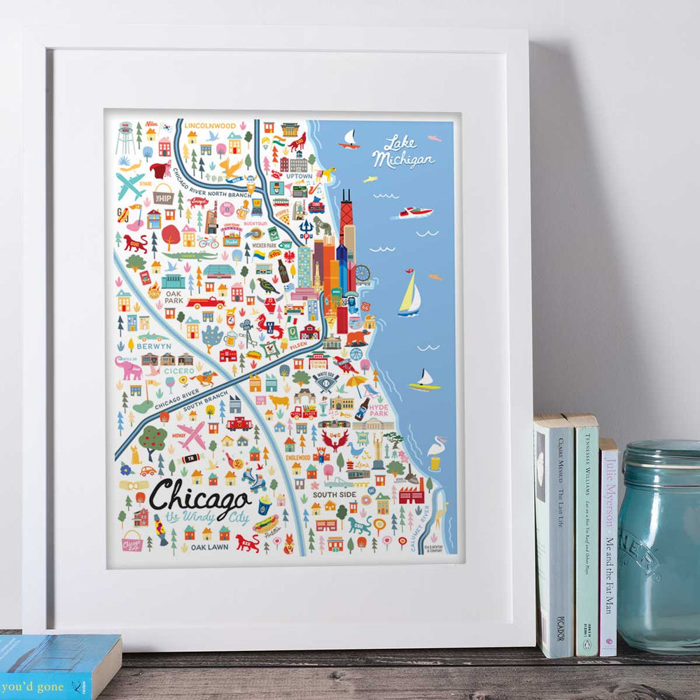 City of Chicago Illinois | Area Map Art Print