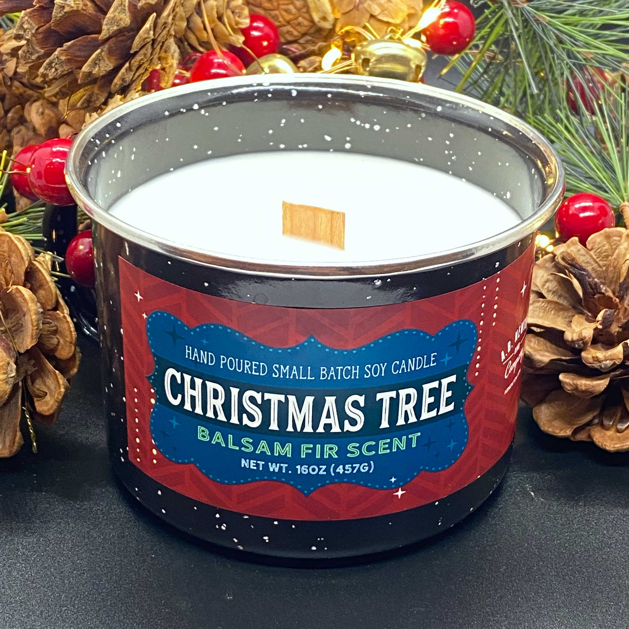 Christmas Tree 16oz Camping Mug Holiday Candle - A. B. Newton and Company