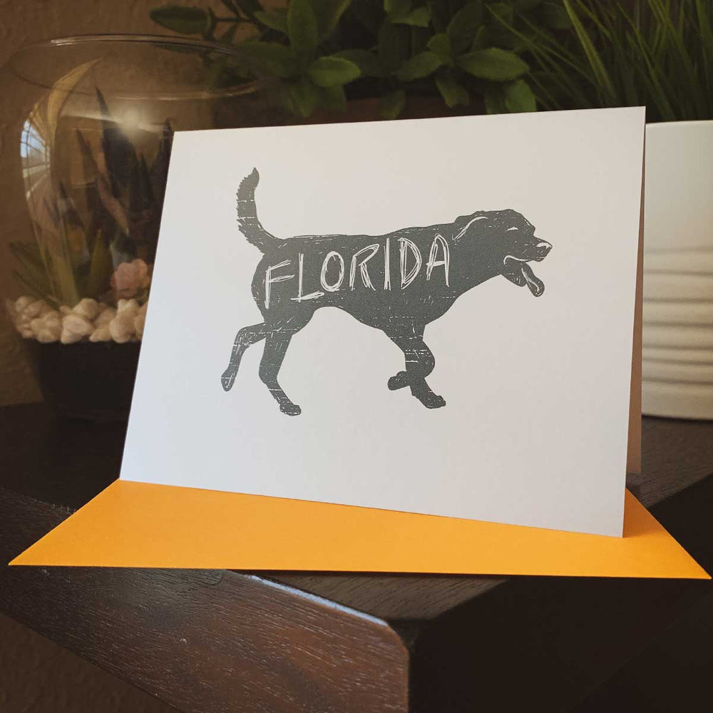 Florida Dog Greeting Card - A. B. Newton and Company