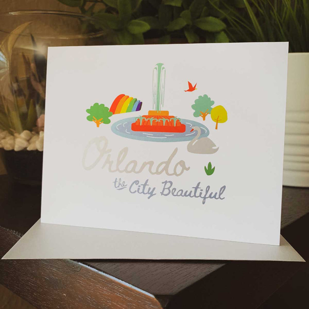 Orlando the City Beautiful Greeting Card - A. B. Newton and Company