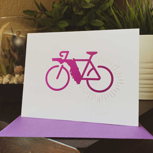 Florida Rides Greeting Card - A. B. Newton and Company