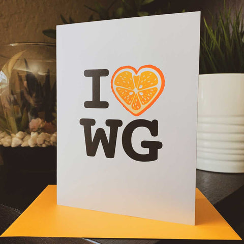 I Love Winter Garden - #IHEARTWG - Greeting Card - A. B. Newton and Company