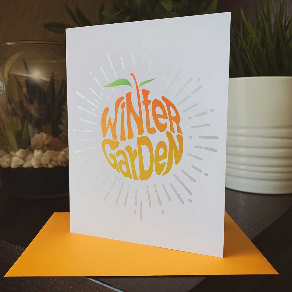 Winter Garden Orange Greeting Card - A. B. Newton and Company