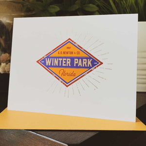 Winter Park Diamond Greeting Card - A. B. Newton and Company