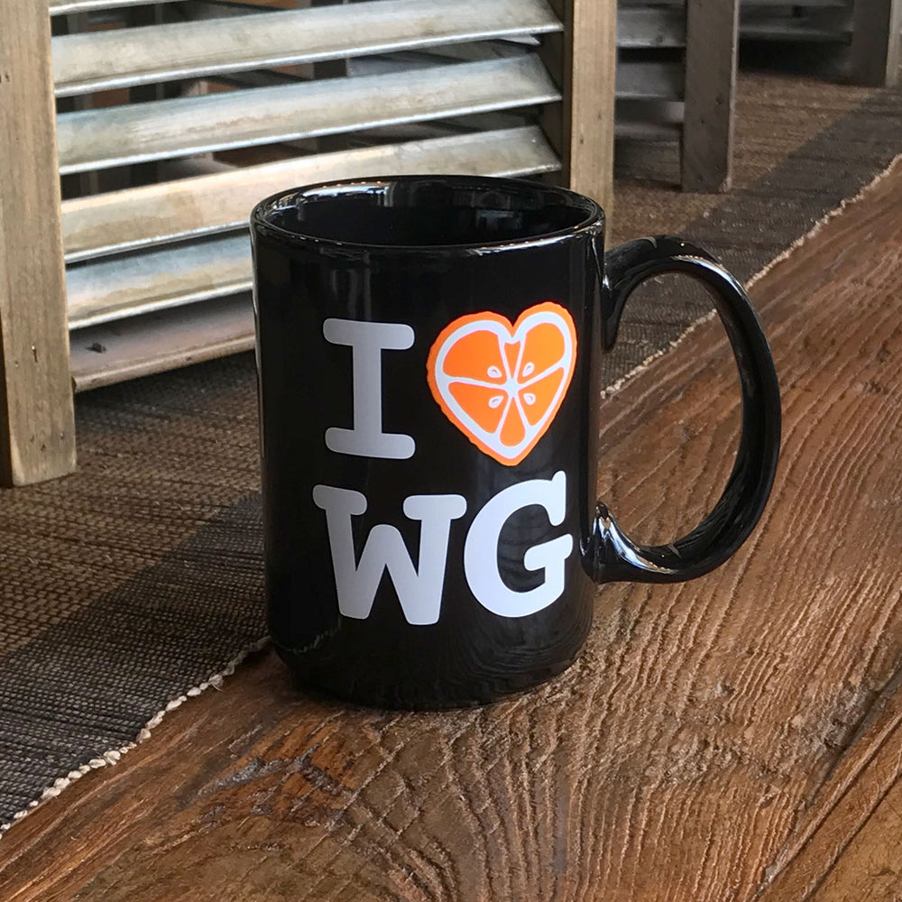 I Love Winter Garden Coffee Mug in White or Black