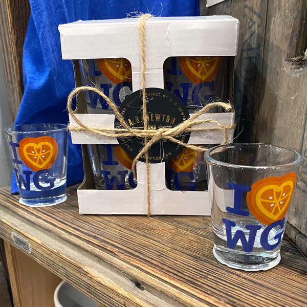 I Love Winter Garden 1.5 oz Shot Glass | Single or Set of 4 - A. B. Newton and Company