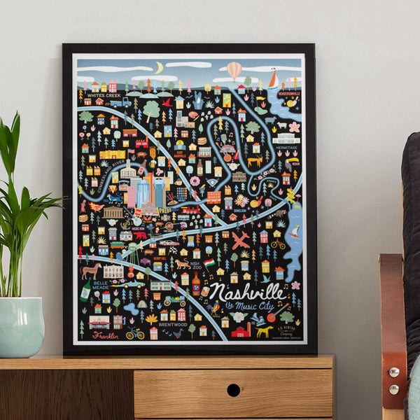 City of Nashville Tennessee | City Print Series