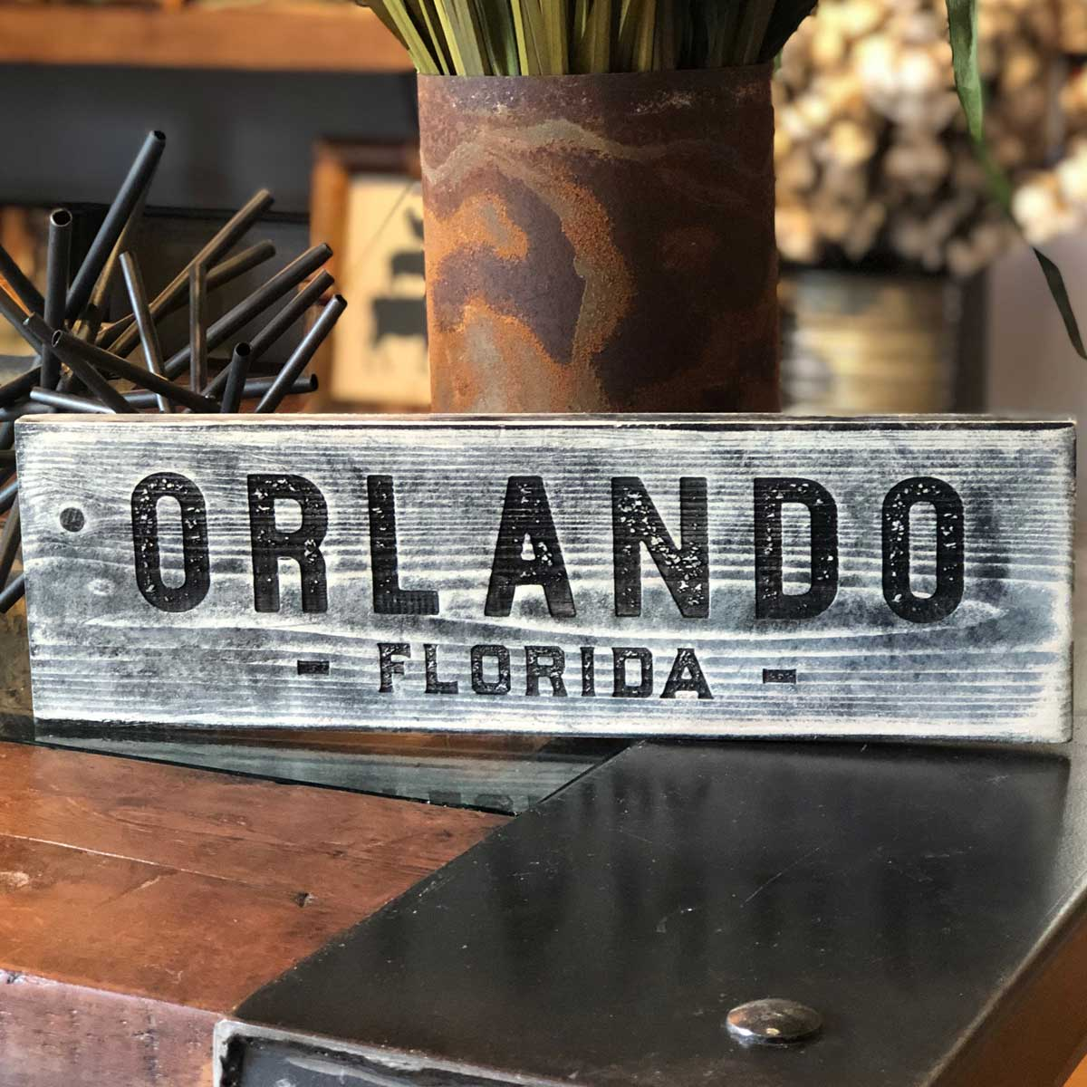 Handcrafted Central Florida City Signs - A. B. Newton and Company